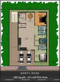 house plans for south facing plots unique 60 square yards house plan lovely house plan for