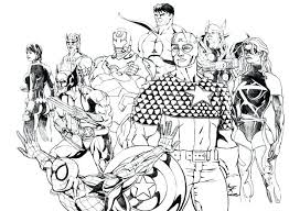 Conventional Coloring Marvel Superheroes Printable Avengers Infinity