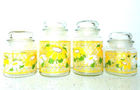anchor hocking glass canisters glass jar canister set vintage glass jar canister set 4 anchor hocking