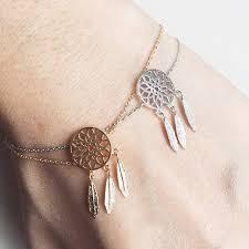 Dream Catcher Gold Bracelet Pameng New Fashion Silver Color Dreamcatcher Charm Bracelets For 3
