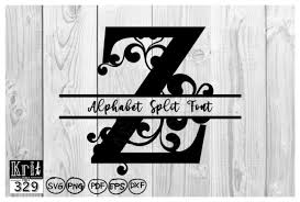 Almost files can be used for commercial. Z Alphabet Split Font Monogram Graphic By Krit Studio329 Creative Fabrica