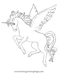 Coloring Pages Animals Winged Unicorn For Kids New - glum.me