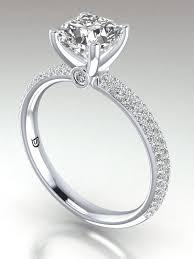 cushion cut diamond enement ring