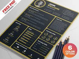Artistic Resume Template Designer Resume Template Psd Bundle Psdfreebies Com