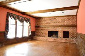 cover brick wall with wood. Unique Cover Dated 1980s Living Room With Dark Brick Wall Wood Beams And Red Salmon  Colored Throughout Cover Brick Wall With Wood F
