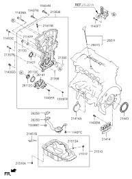 belt cover oil pan for 2016 hyundai sonata hybrid 2016 hyundai sonata hybrid belt cover oil pan diagram 20215a11