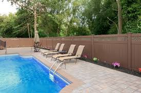 Brown vinyl privacy fence Plastic Wall Brown Vinyl Pool Fence Garden Fence Ideas Privacy Fence Illusions Vinyl Fence Brown Vinyl Pool Fence Garden Fence Ideas Privacy Fence Garden
