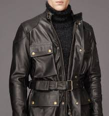 nice usa black belstaff leather jacket mens knockhill jacket in bull grain leather zero profit