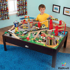 kidkraft airport express train set and table in espresso 3 years