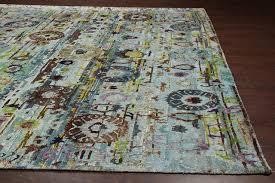 suze aqua sari silk rug 30092 9x12