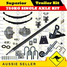 superior diy 750kg single axle trailer kit eye to eye sle springs