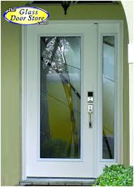 single glass front doors. Modern Front Door With Glass Insert And Sidelight. Very Private. Minimilist. Single Doors W