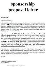 Sample Letter For Event Proposal Sample Sport Event Sponsorship Proposal Template Free School
