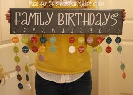 How To Make A Family Birthday Chart Family Birthdays