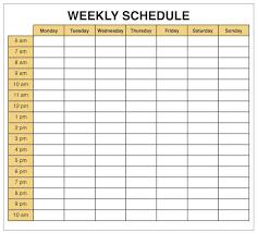 Microsoft Free Calendar Template Free Weekly Calendar Template Download