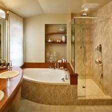 Bathroom Design Ideas Golden Shine Warm Luxurious Corner Tub Bathroom  Designs Master Premium Wooden Sink