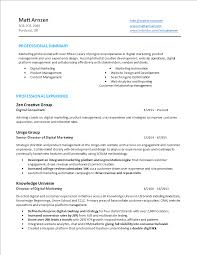 Digital Marketing Specialist Resume Template Templates At