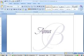 How To Design Your Own Monogram In Microsoft Word Wedding Ideas