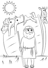 Noah S Ark Animals Two By Two Coloring Page Free Printable
