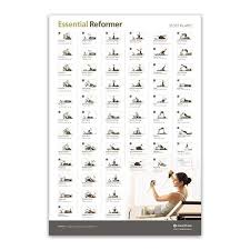 Aero Pilates Exercise Wall Chart Wall Chart Essential Reformer Aero Pilates Reformer