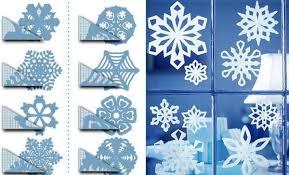 Papier Schneeflocken Bastelanleitung Weihnachten Fensterdeko