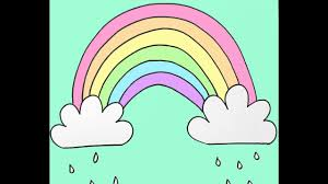 Small Picture How to Draw a Rainbow and Clouds Beginners Drawing Tutorial of