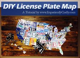 diy license plate united states map tutorial on license plate map wall art with diy tutorial license plate map of the united states ferris built