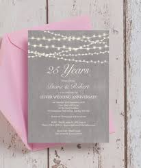25th wedding anniversary invitations luxury grey fairy lights 25th silver wedding anniversary invitation from