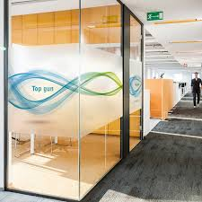 office glass windows. Custom Frosted Glass Film Collision Office Door Stickers Personalized Creative Window Paper Windows Y