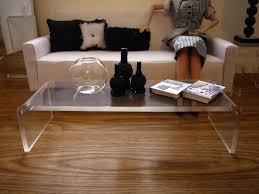 Living Room The Most Clear Acrylic Coffee Tables And Accent With Regard To  Popular Property Clear Plastic Coffee Table Designs