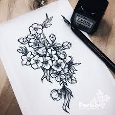 сделать татуировку полевые цветы в городе санкт петербург по эскизу