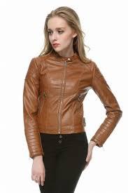 brown black faux leather jacket women short slim brand motorcycle biker jacket white leather coat chaquetas