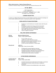 12 Medical Administrative Assistant Resume Informal Letters Office