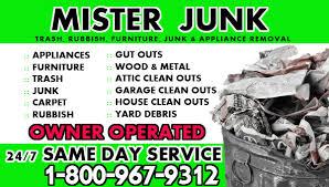 Mister Junk Removal Junk Removal Service Junk Removal Remove Junk