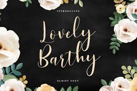 Skylar yoo's first collection of hand lettering quotes are visually striking and exciting to see. Lovely Barthy Calligraphy Font Free Svg Designs