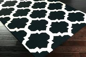 black and white area rug rugs 5x7