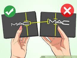 image led spot a fake mac cosmetics step 1