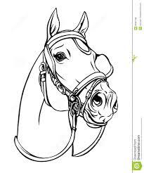 Kleurplaat Paardenhoofd Met Hoefijzer Autosticker Paard Hoefijzer 20