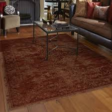 Walmart Rugs For Living Room Orian Rugs Faded Damask Traditional Red Area Rug Walmartcom