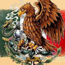 mexican flag eagle.  Eagle I Created This Fun Tribute To The Mexican Flag Showing Eagle And Snake  Chilling Together For Marijuana Lifestyle Apparel Brand Bonjour With Mexican Eagle E