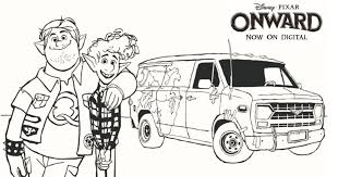 Print disney coloring pages for free and color our disney coloring! Onward Barley Ian And Guinevere Coloring Page Mama Likes This