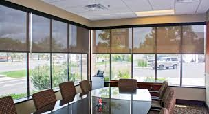 Trendy office designs blinds Window Insolroll Commercial Solar Shades Conference Room Contemporist Conference Room Office Window Shades Insolroll