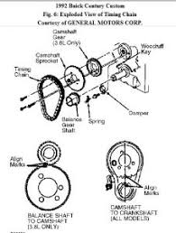 1992 buick century timing chain 1992 buick century 6 cyl how do i here is the diagram for lining up timing marks