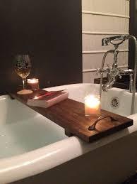 clawfoot tub bath caddy breathtaking rustic bathtub tray poplar wood with handles interior design 1