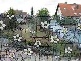 Fensterfolie Blumen Bunt Gls4657 Statische Dekorfolien Größenwahl