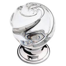 31mm chrome and clear swirled glass