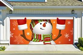 garage door cover banners 3d snowman holiday outside decorations outdoor decor for garage door g33