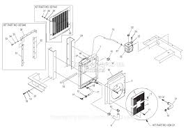 Generac 4626 5 parts diagram for radiator
