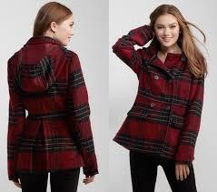 details about aero aeropostale plaid hooded peacoat pea coat winter jacket xs s m l xl 2xl new