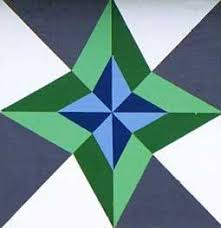 """Paint a Barn Quilt Block """"The North Star"""" a Native American Star ... & Paint a Barn Quilt Block """"The North Star"""" a Native American Star quilt  pattern Adamdwight.com"""